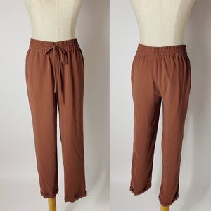 J. CREW Drapey Pull On Ankle Pant Mauve Pink 2